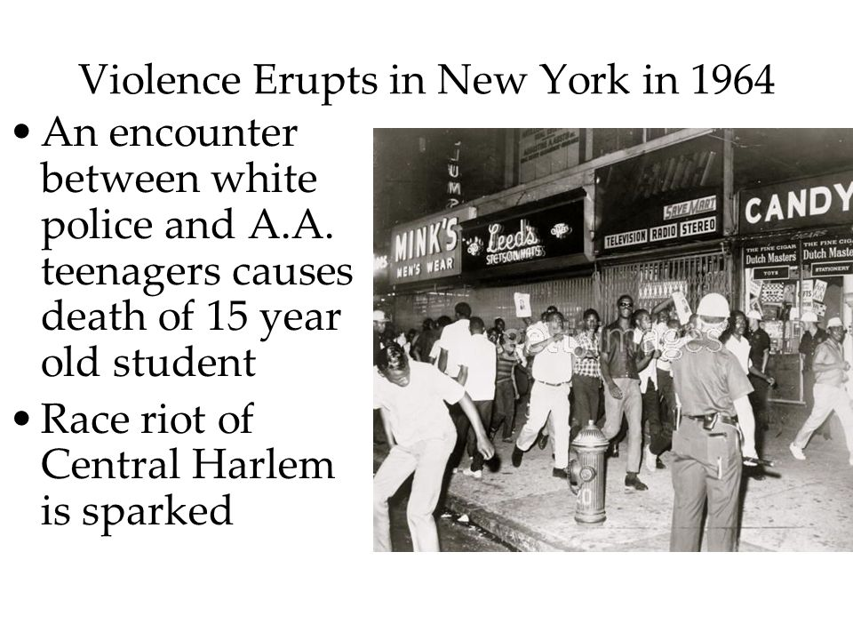 Violence Erupts in New York in 1964