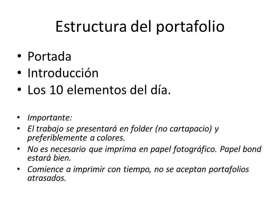Estructura del portafolio