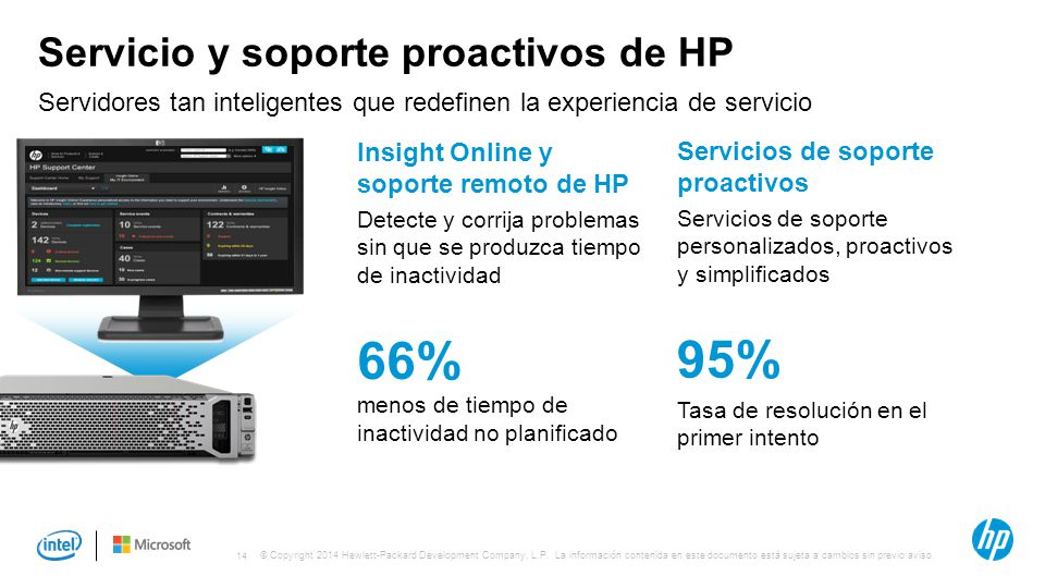 Servicio y soporte proactivos de HP