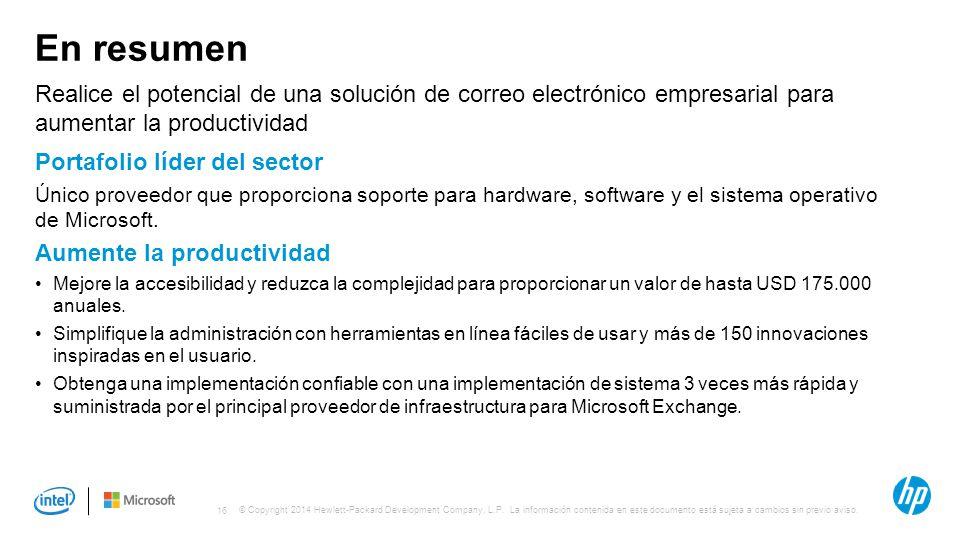 En resumen Realice el potencial de una solución de correo electrónico empresarial para aumentar la productividad.