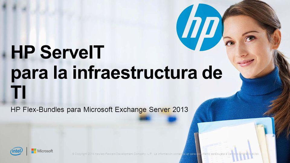 HP ServeIT para la infraestructura de TI