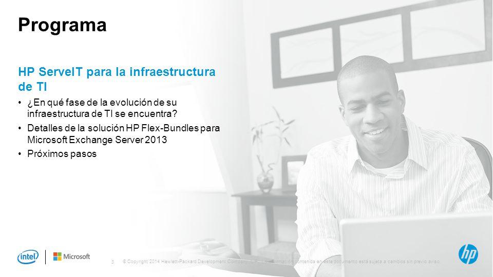 Programa HP ServeIT para la infraestructura de TI