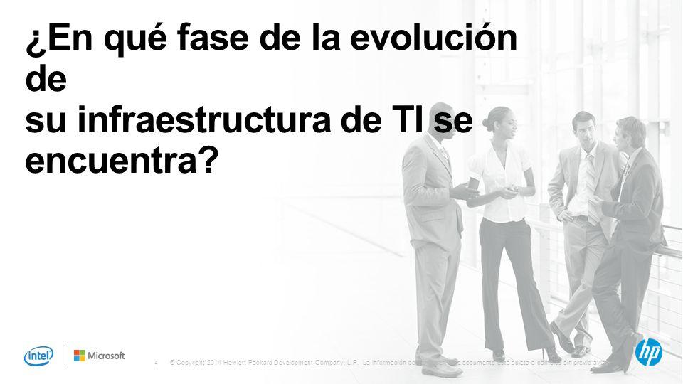 ¿En qué fase de la evolución de su infraestructura de TI se encuentra
