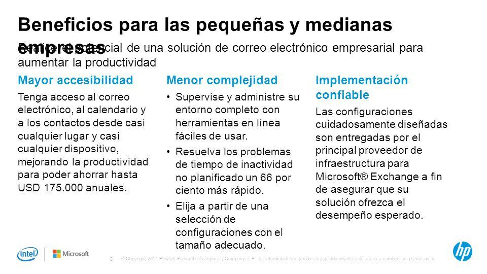 Beneficios para las pequeñas y medianas empresas