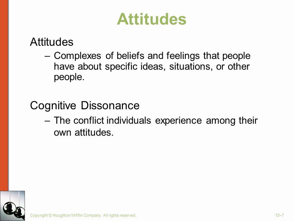 Attitudes Attitudes Cognitive Dissonance