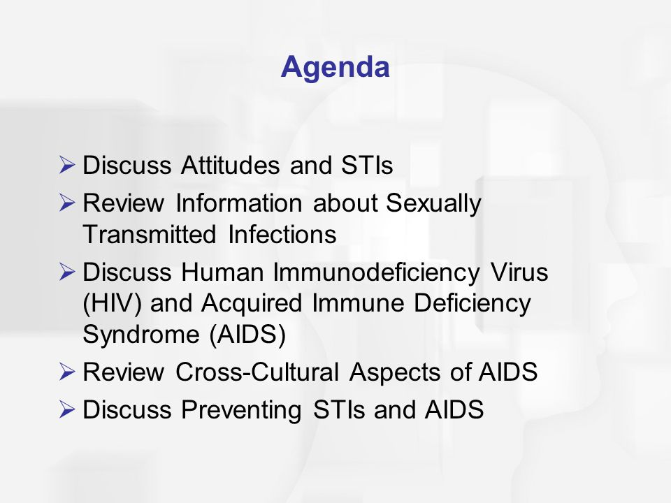 Agenda Discuss Attitudes and STIs