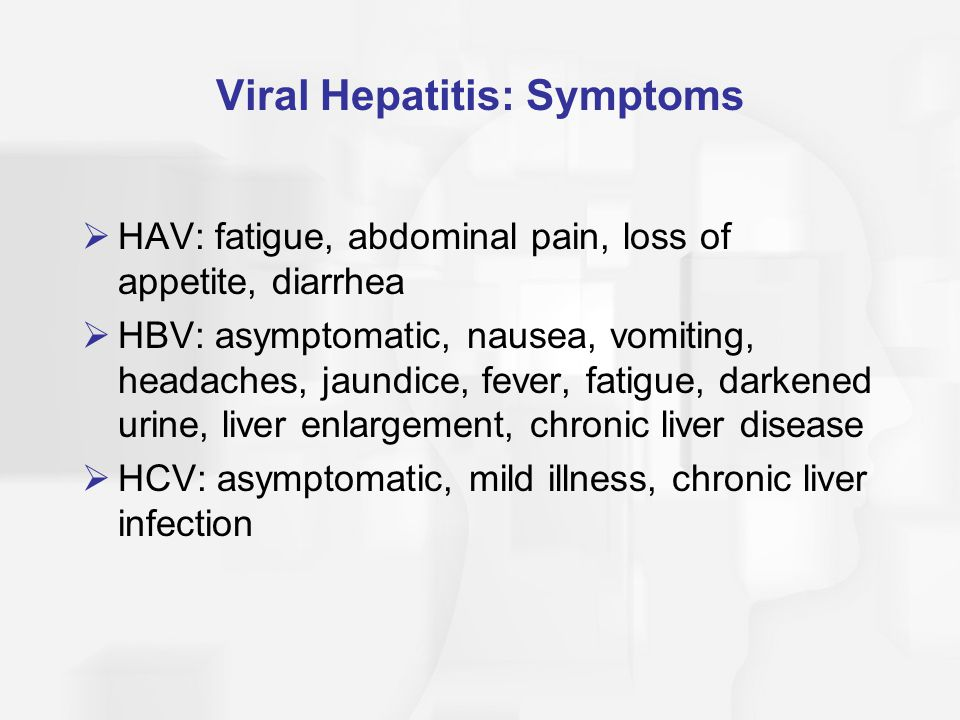 Viral Hepatitis: Symptoms