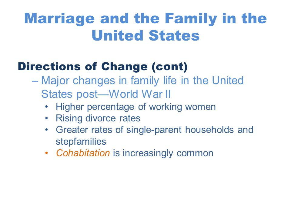 An overview of the divorce rate in the united states