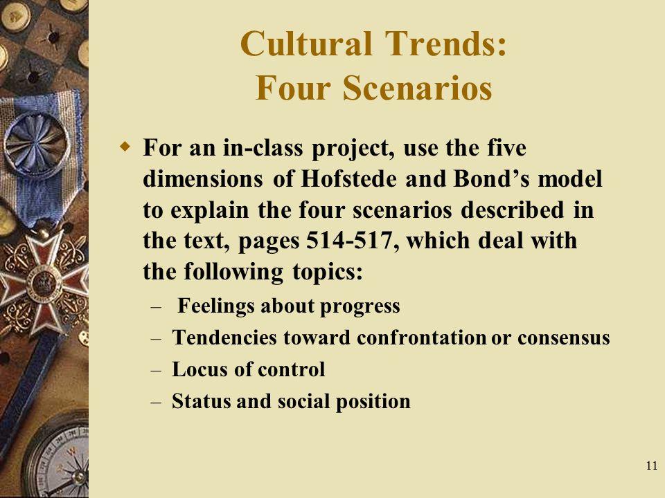 Cultural Trends: Four Scenarios
