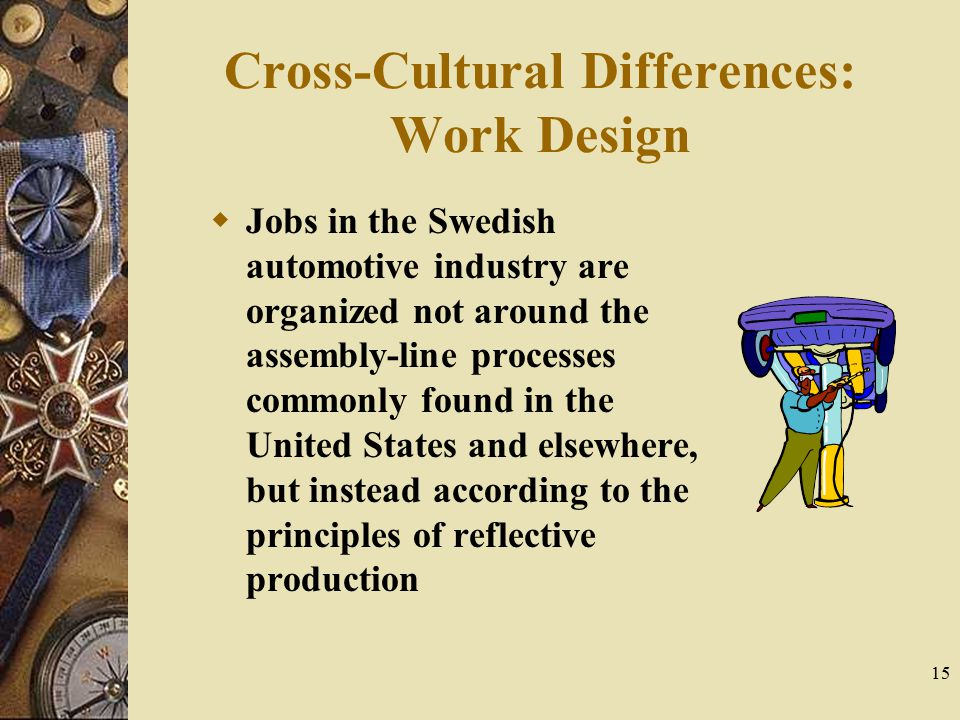 Cross-Cultural Differences: Work Design