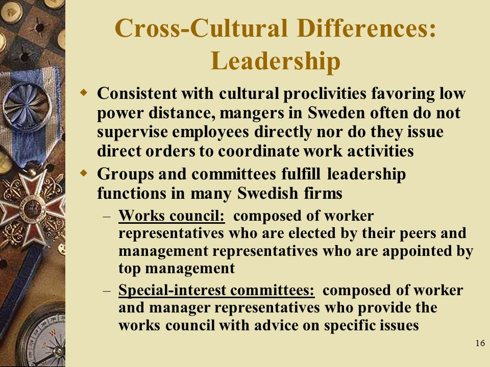 Cross-Cultural Differences: Leadership