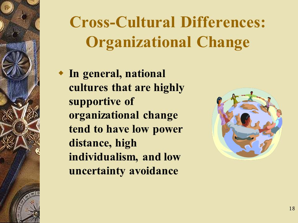 Cross-Cultural Differences: Organizational Change