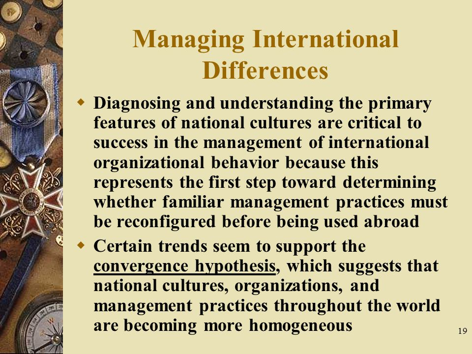 Managing International Differences