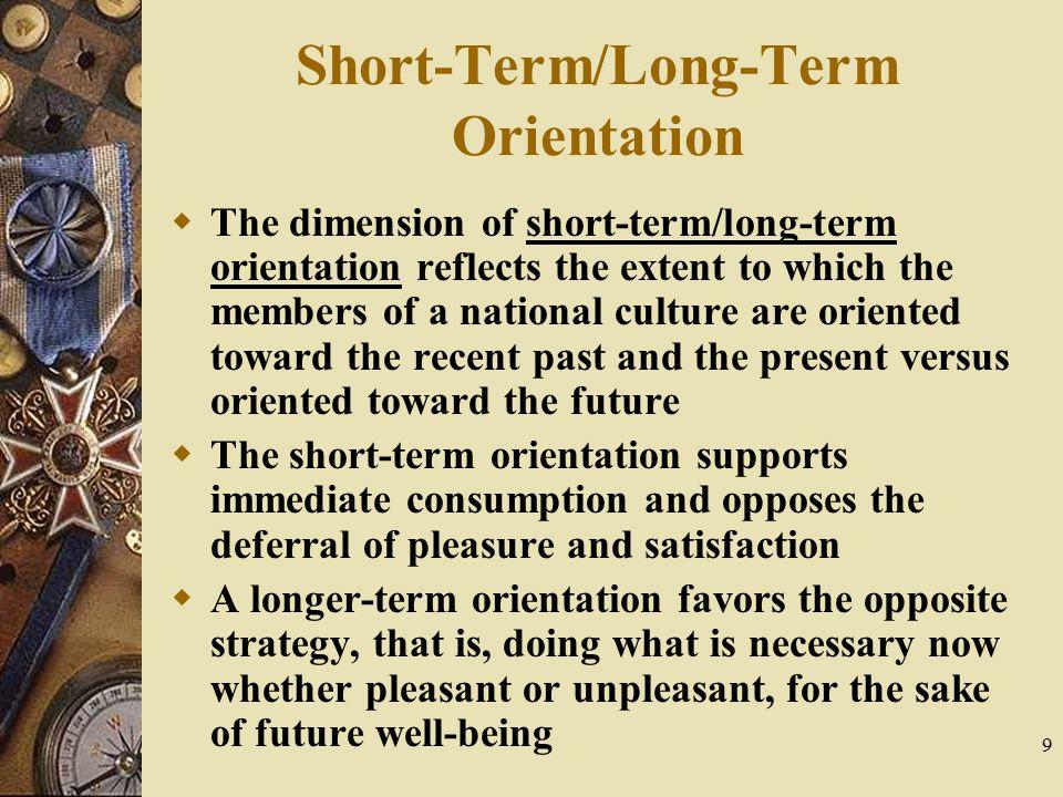 Short-Term/Long-Term Orientation