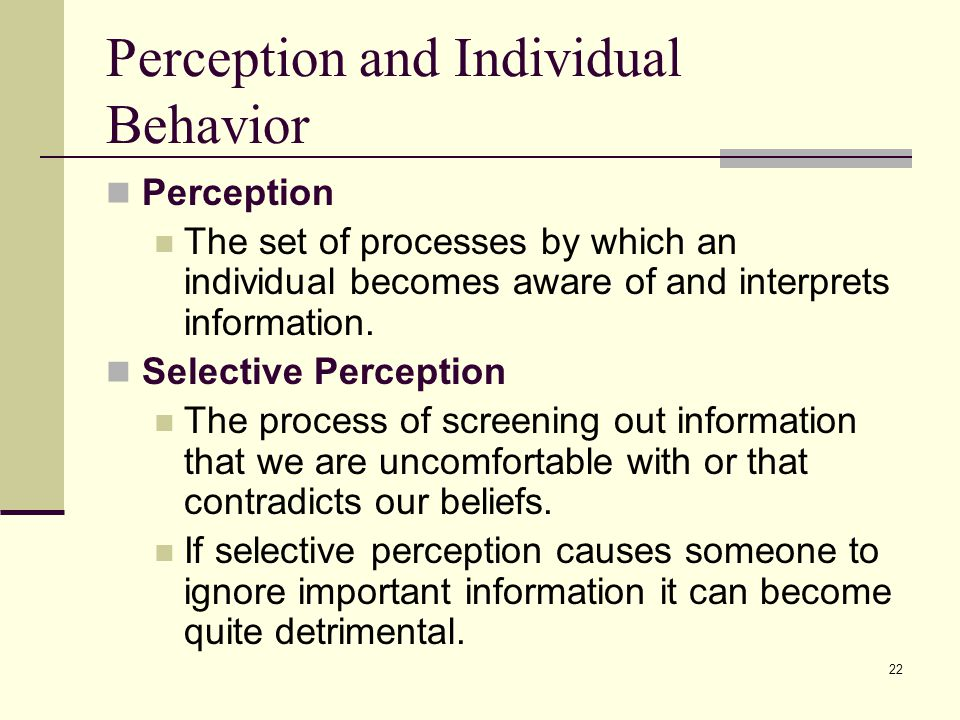 the importance of perception checking Discuss the importance of perception in face to facecommunication between individuals perception in face to face communication is.