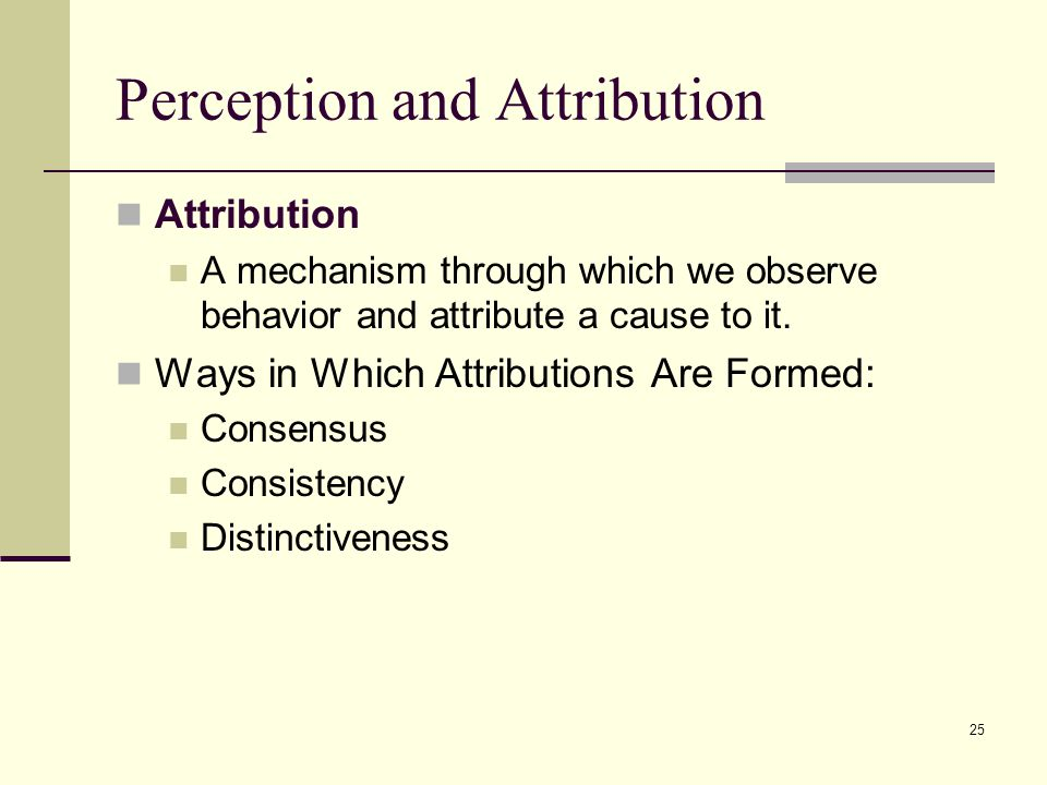 Perception and Attribution