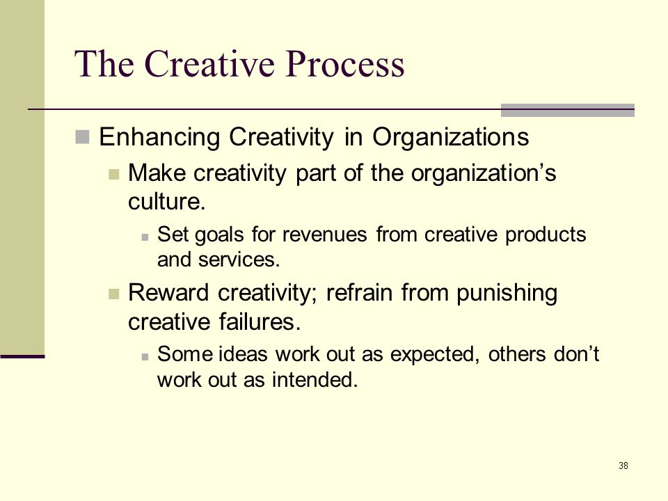 The Creative Process Enhancing Creativity in Organizations