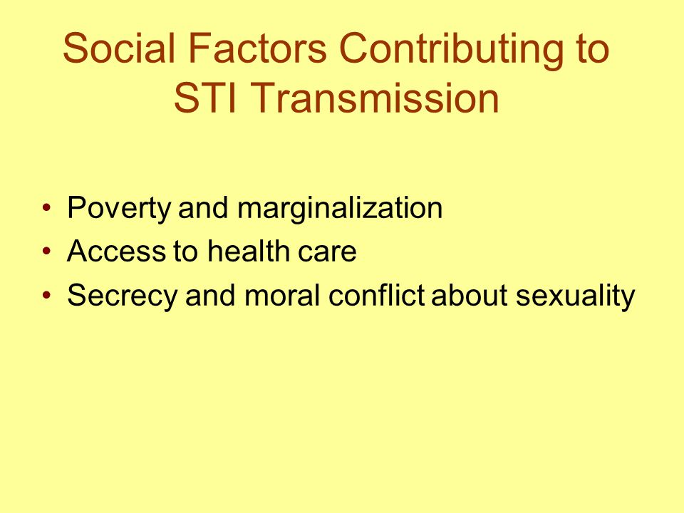 Social Factors Contributing to STI Transmission
