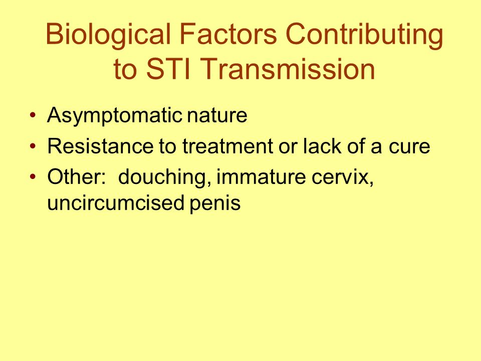 Biological Factors Contributing to STI Transmission