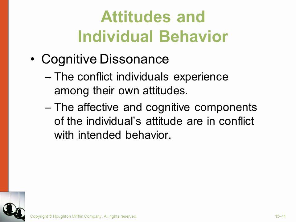 Attitudes and Individual Behavior