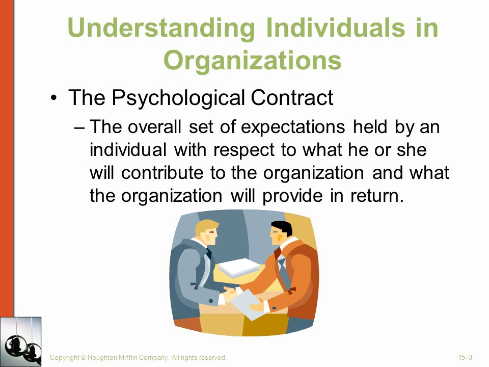 Understanding Individuals in Organizations