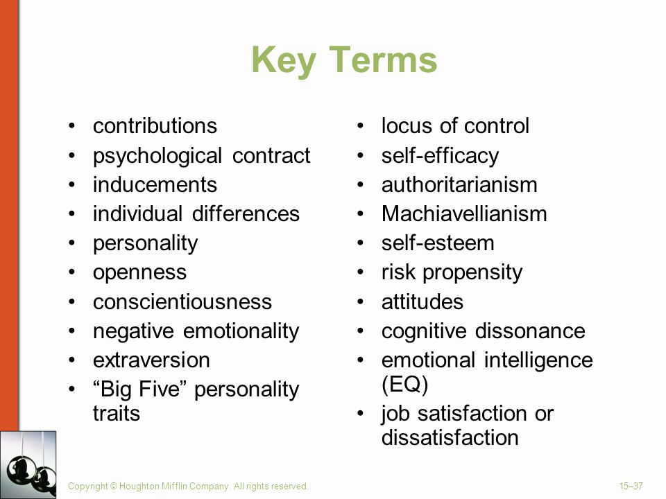 Key Terms contributions psychological contract inducements