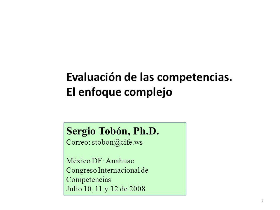 Evaluación de las competencias. El enfoque complejo