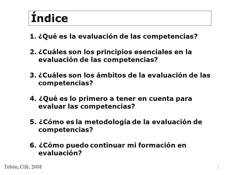 Índice ¿Qué es la evaluación de las competencias