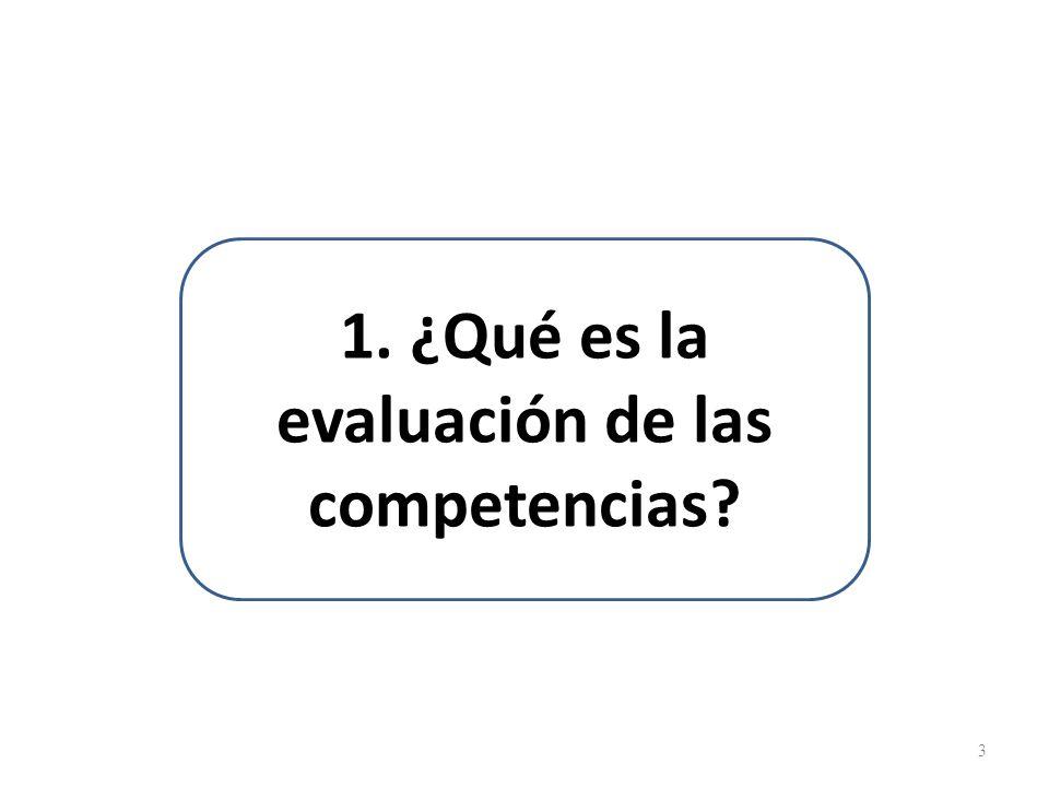 1. ¿Qué es la evaluación de las competencias