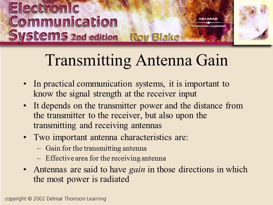 Transmitting Antenna Gain