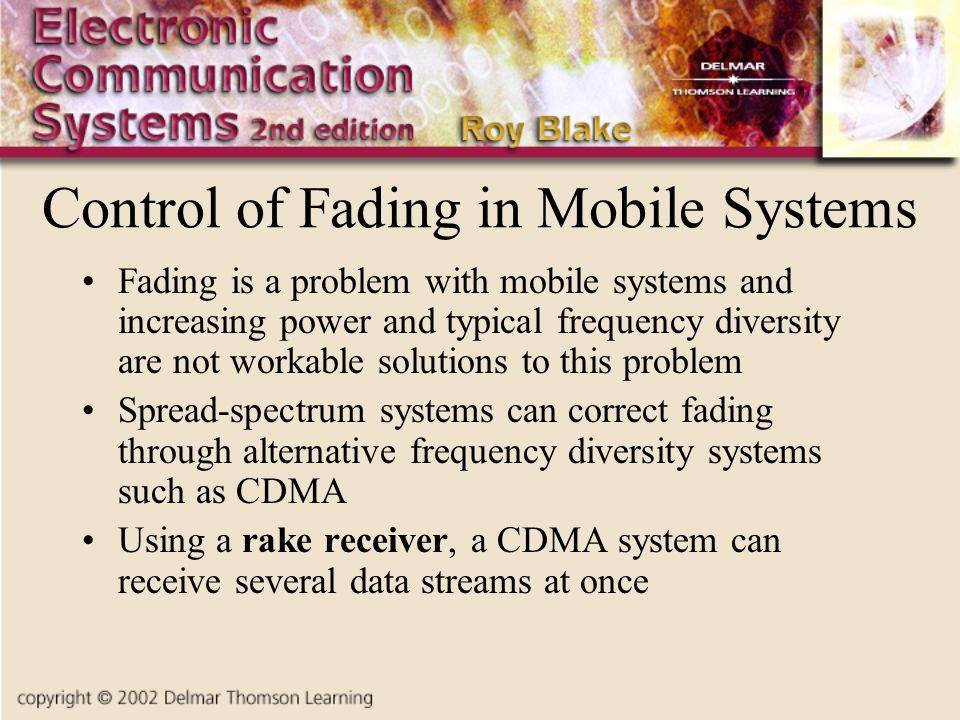 Control of Fading in Mobile Systems