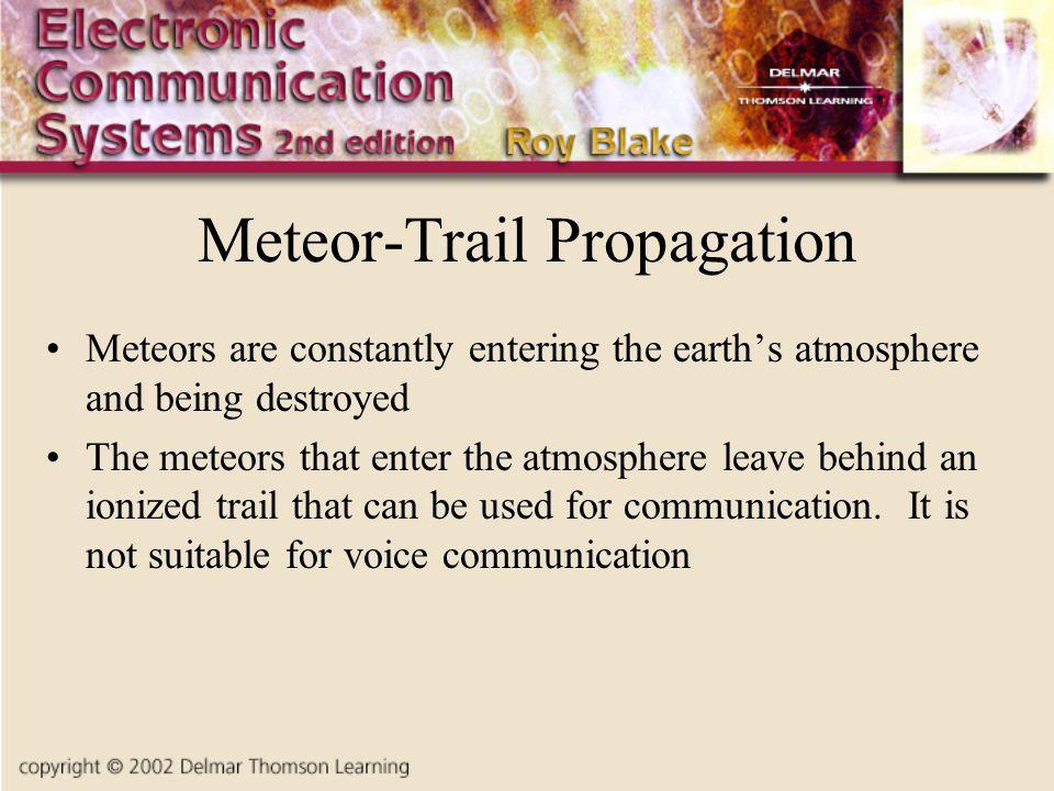 Meteor-Trail Propagation