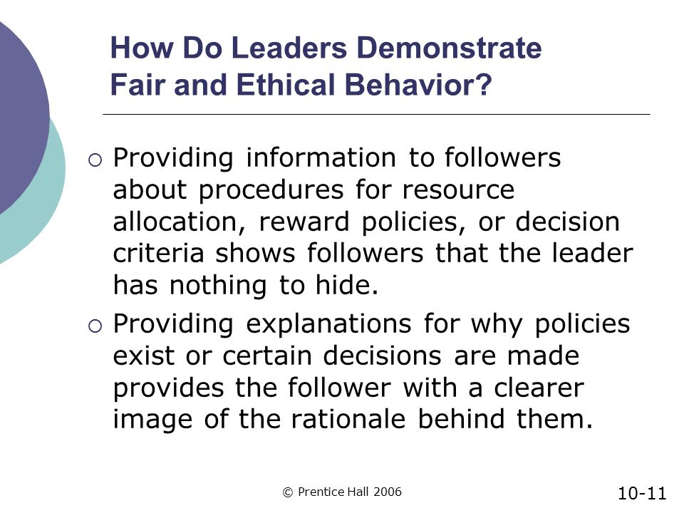 How Do Leaders Demonstrate Fair and Ethical Behavior
