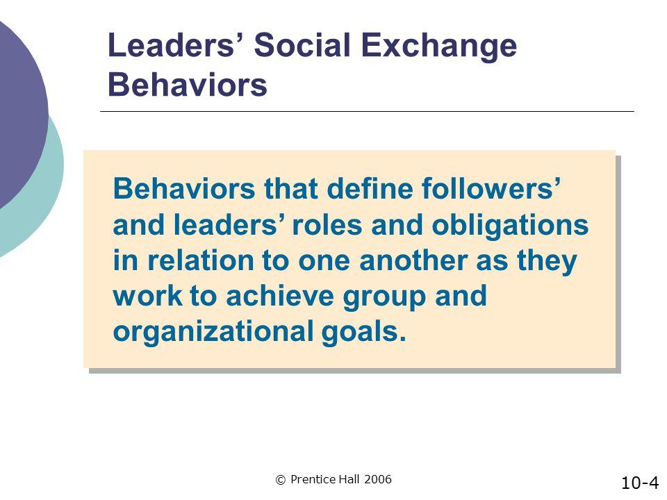 Leaders' Social Exchange Behaviors