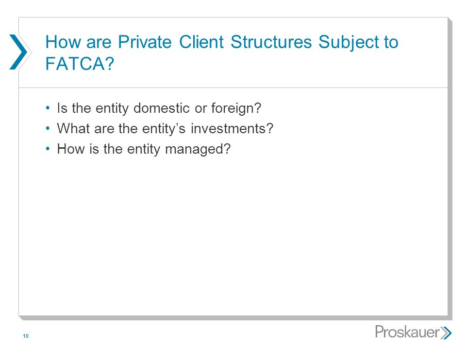 How are Private Client Structures Subject to FATCA