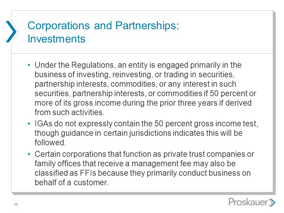 Corporations and Partnerships: Investments