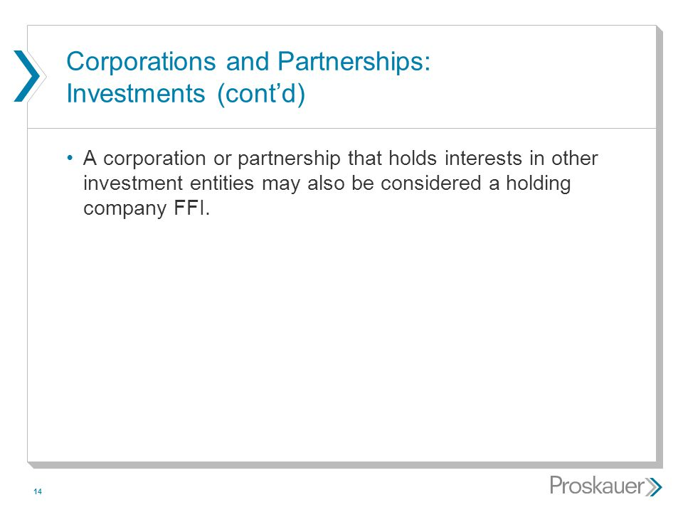 Corporations and Partnerships: Investments (cont'd)