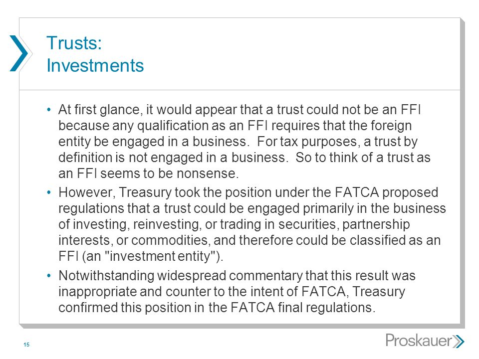 Trusts: Investments