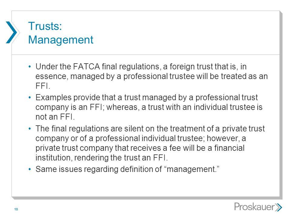 Trusts: Management