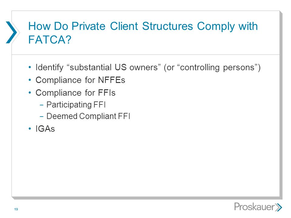 How Do Private Client Structures Comply with FATCA