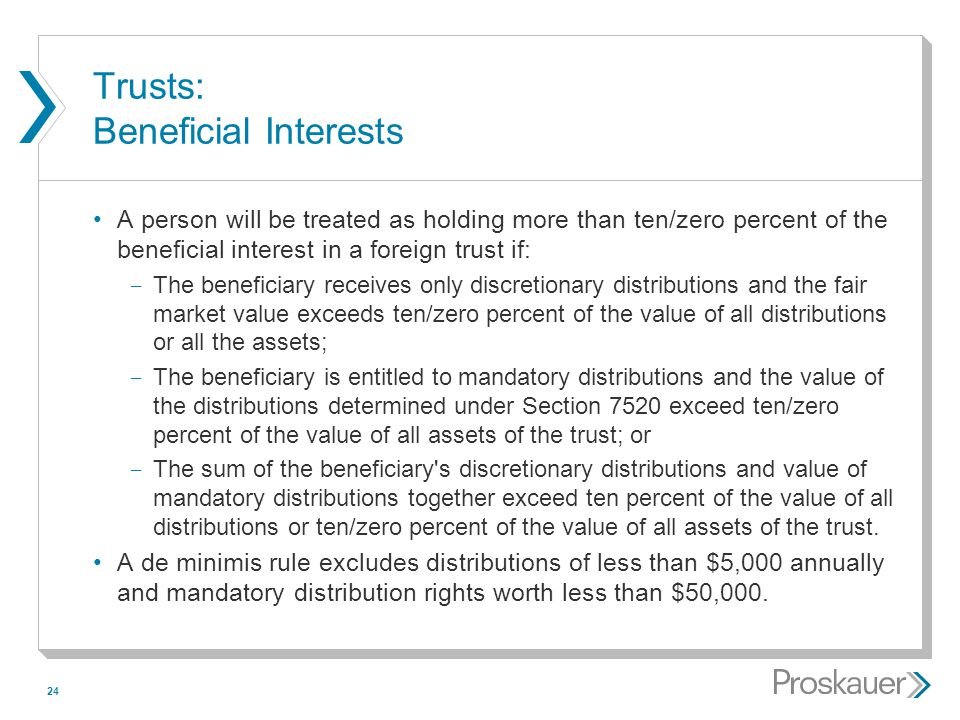 Trusts: Beneficial Interests