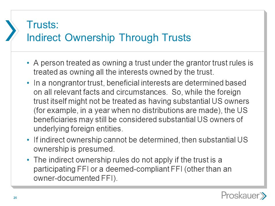 Trusts: Indirect Ownership Through Trusts