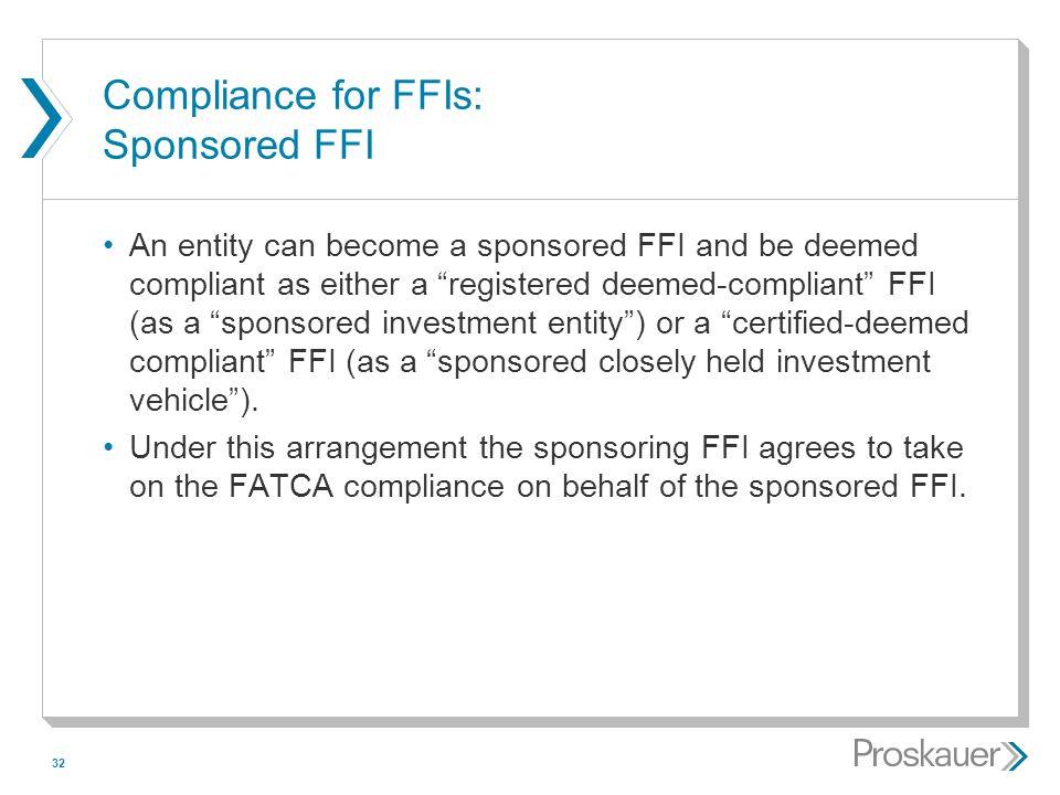 Compliance for FFIs: Sponsored FFI