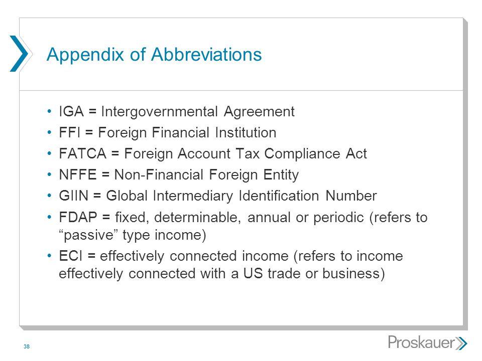 Appendix of Abbreviations