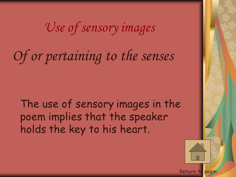 Of or pertaining to the senses