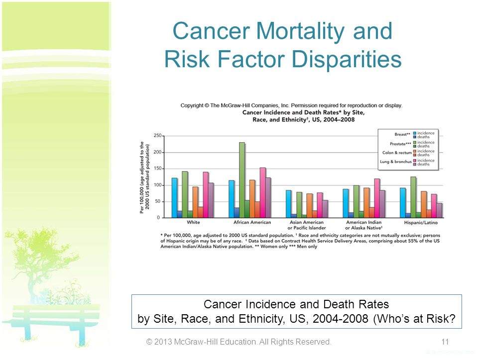 Cancer Mortality and Risk Factor Disparities