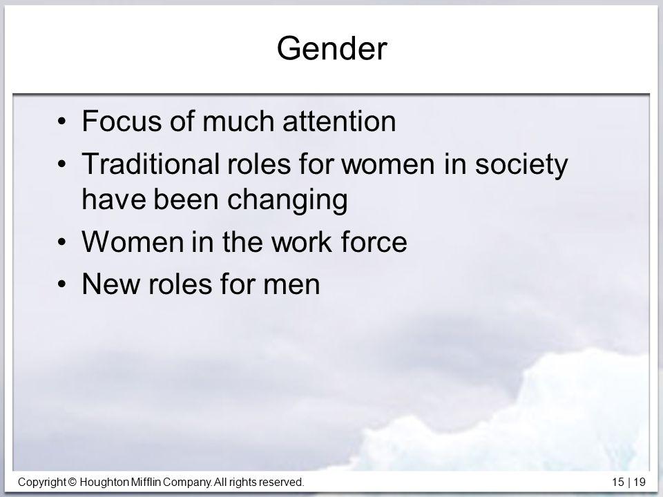 Gender Focus of much attention