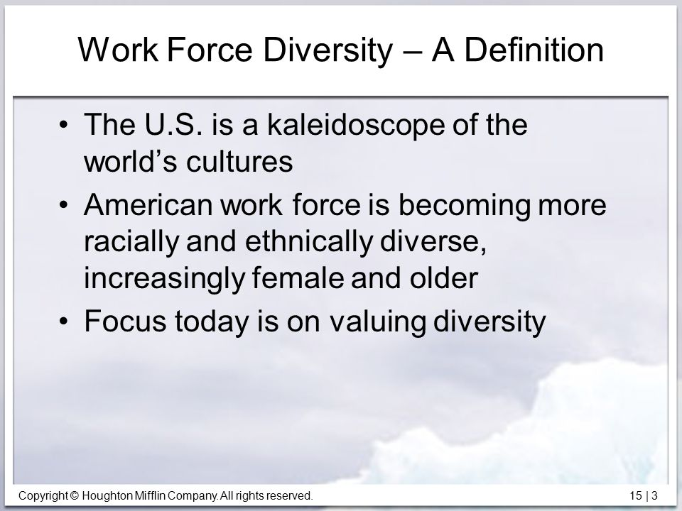 Work Force Diversity – A Definition
