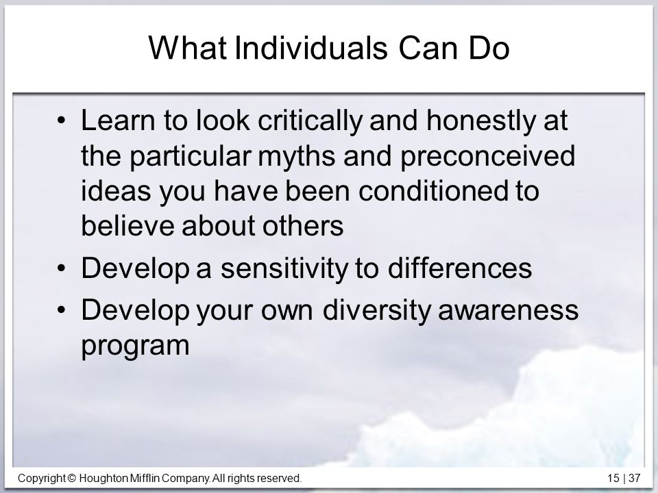 What Individuals Can Do