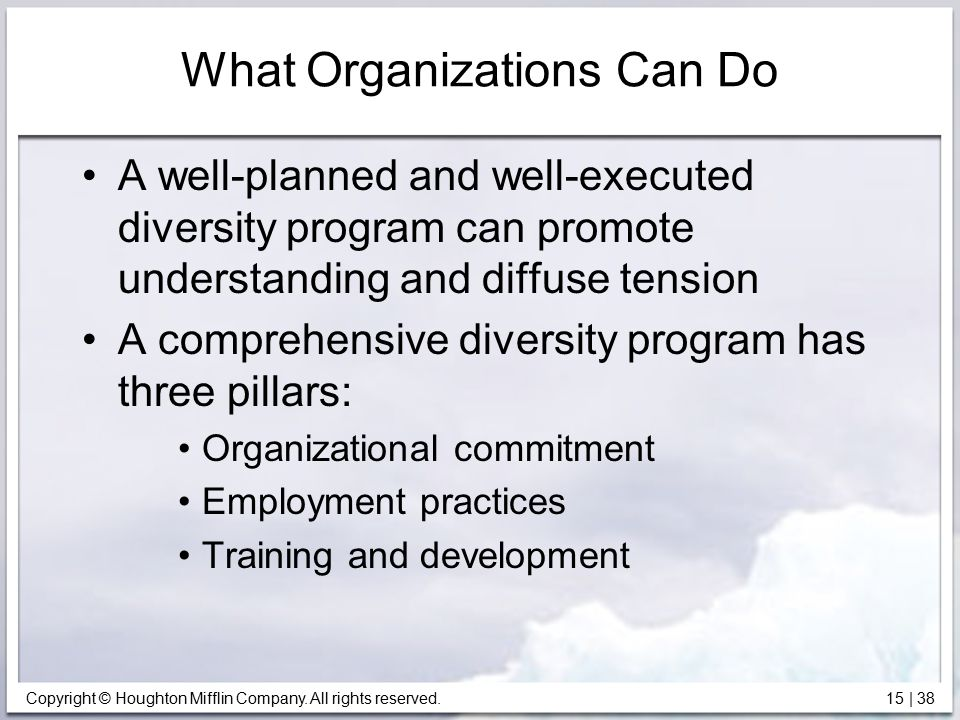 What Organizations Can Do